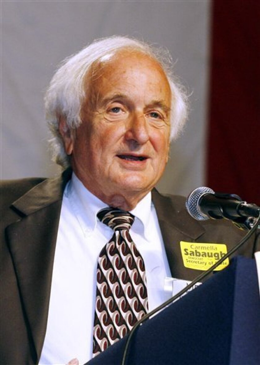FILE - In this Aug. 27, 2006 file photo, Rep. Sander Levin, D-Mich. speaks in Detroit. Levin will take over as acting chairman of the House Ways and Means Committee, replacing New York Rep. Charles B. Rangel, who relinquished his chairmanship Wednesday in the wake of ethic inquiries. (AP Photo/Gary Malerba, File)