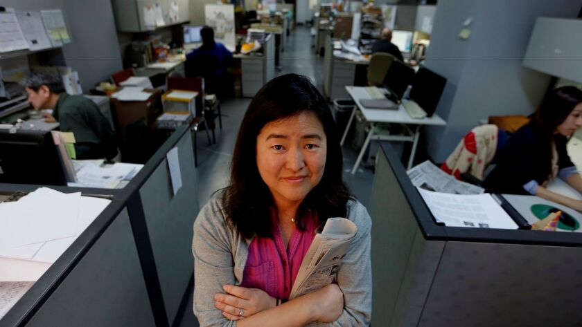 Gwen Muranaka, English editor in chief of Rafu Shimpo, a Japanese-English newspaper on April 28, 2016.