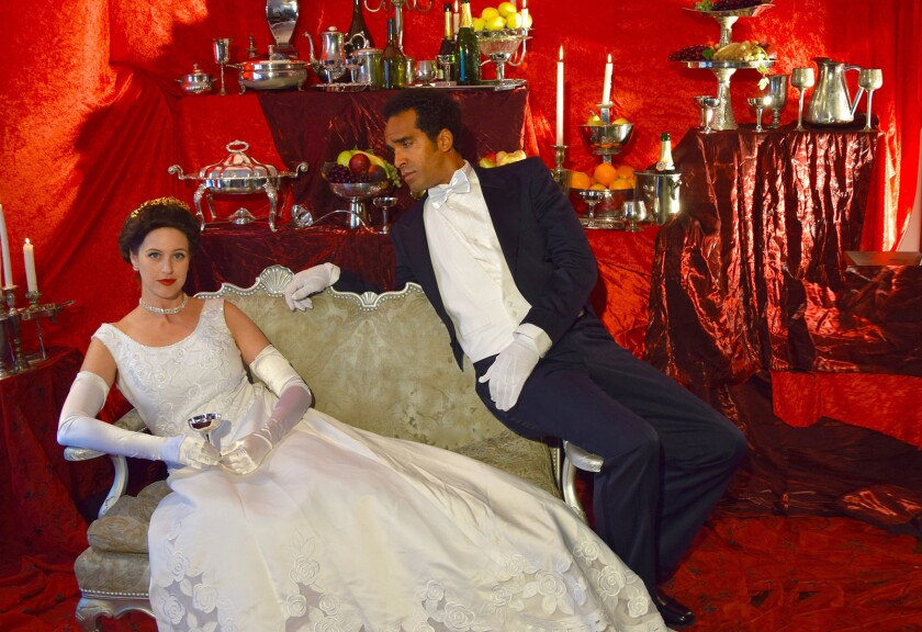 "Amanda Kingston and Orson Van Gay II costar in Pacific Opera Project's staging of the Verdi classic ""La Traviata."""