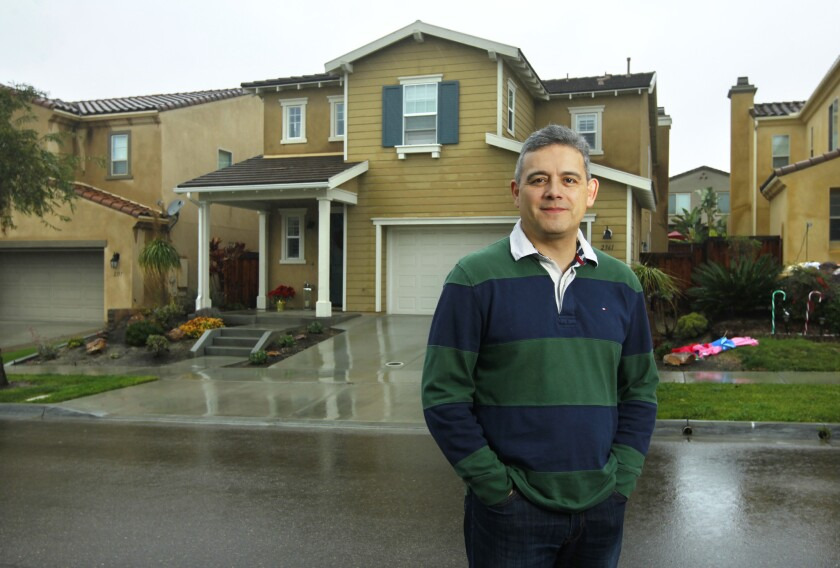 Ricardo Soto and his family bought their Chula Vista home in September with the help of Unison, a company that will provide part of the down payment on a home in exchange for some of the home's future price appreciation.
