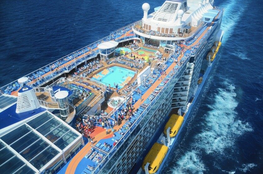 Passenger growth worldwide is expected to pick up to about 4% next year over 2015 to 24 million passengers, according to the Cruise Line International Assn., a trade group for the world's cruise industry. Above, the Quantum of the Seas.