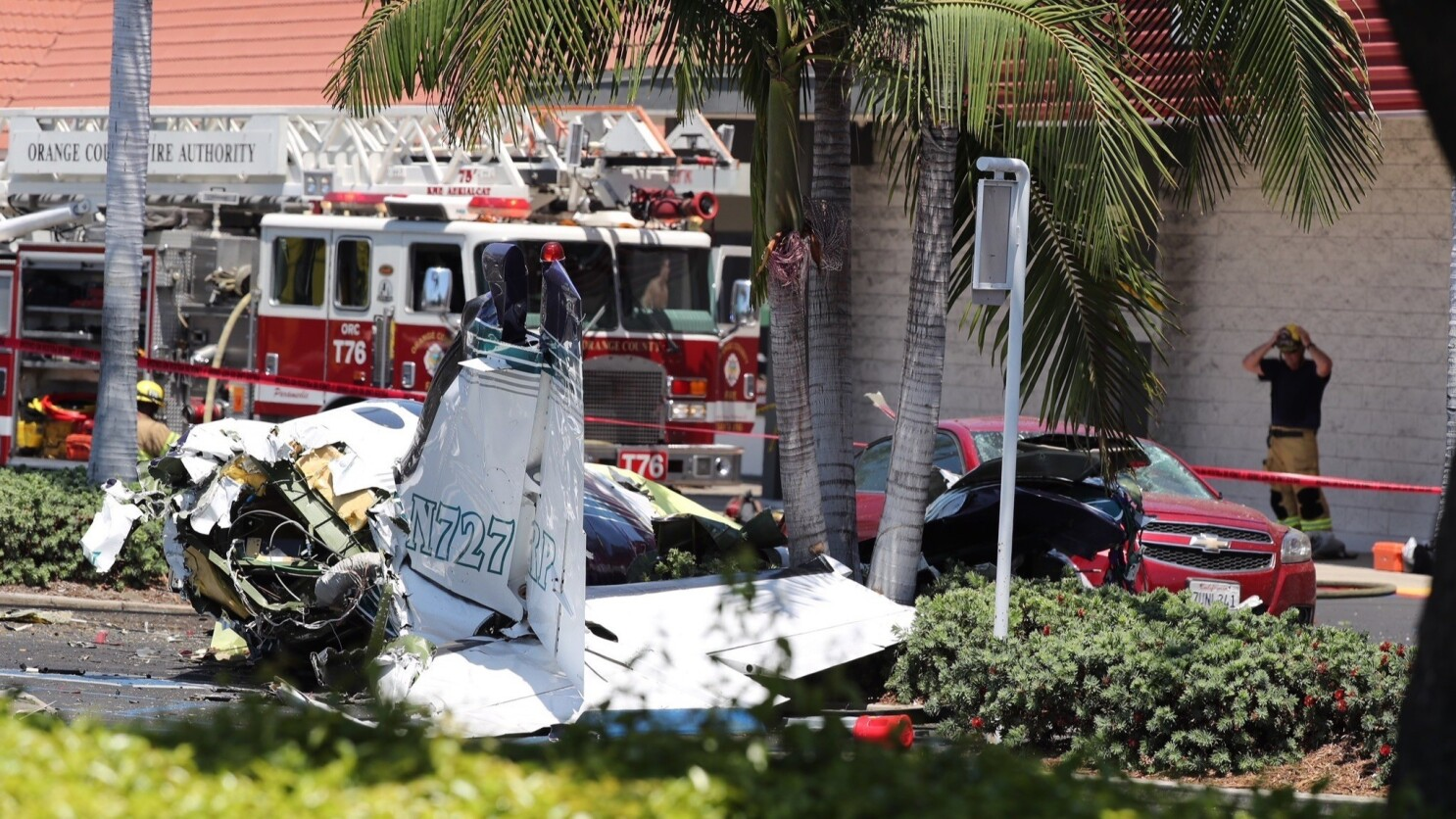 It was so heartbreaking': Small plane crashes in Santa Ana