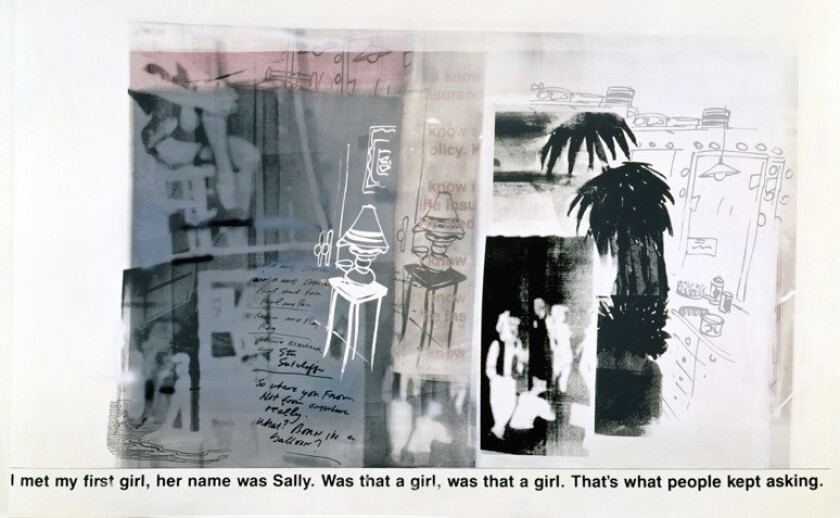 """""""I Know This Guy,"""" 1990, by Richard Prince -- part of a group show on the '90s at Regen Projects."""