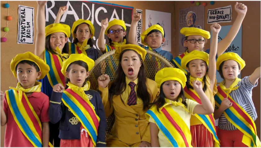 "A still from ""Radical Cram School,"" directed by Jenessa Joffee and starring Kristina Wong."