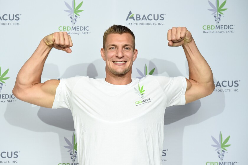 Former New England Patriots tight end Rob Gronkowski had an attention-grabbing moment on live TV as a co-host of Fox's New Year's Eve broadcast.