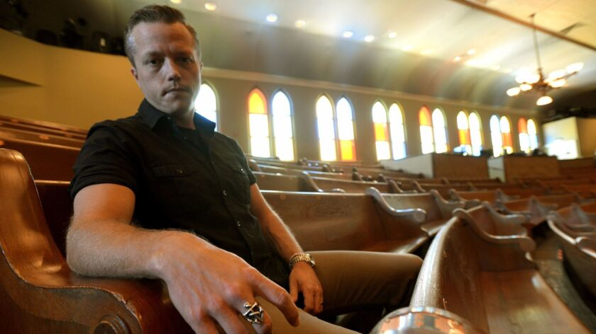 Jason Isbell, shown at the Ryman Auditorium on Wednesday, March 8, 2017 in Nashville, Tenn., has his