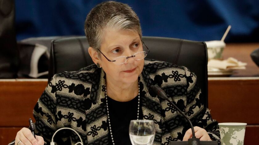 UC President Janet Napolitano vows to protect vulnerable immigrant students