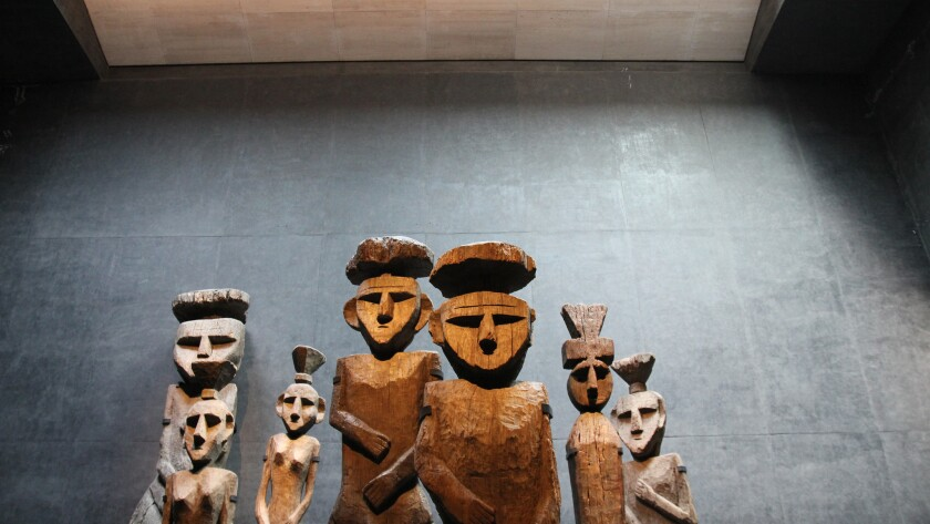 A series of Mapuche grave markers stand guard over a new subterranean gallery at the Chilean Museum of Pre-Columbian Art in Santiago. Recently redesigned by Chilean architect Smiljan Radic, the museum presents the art with grace and drama.