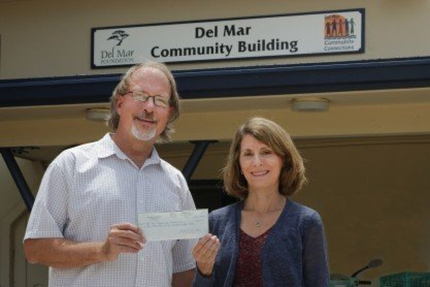 Nate McCay, president of Del Mar Community Connections, and Jill Weitzen MacDonald, president of the Del Mar Foundation. Photo by Bill Morris