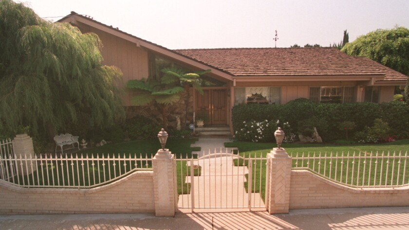 """The Studio City home used for exterior shots of the Brady residence in """"The Brady Bunch."""""""