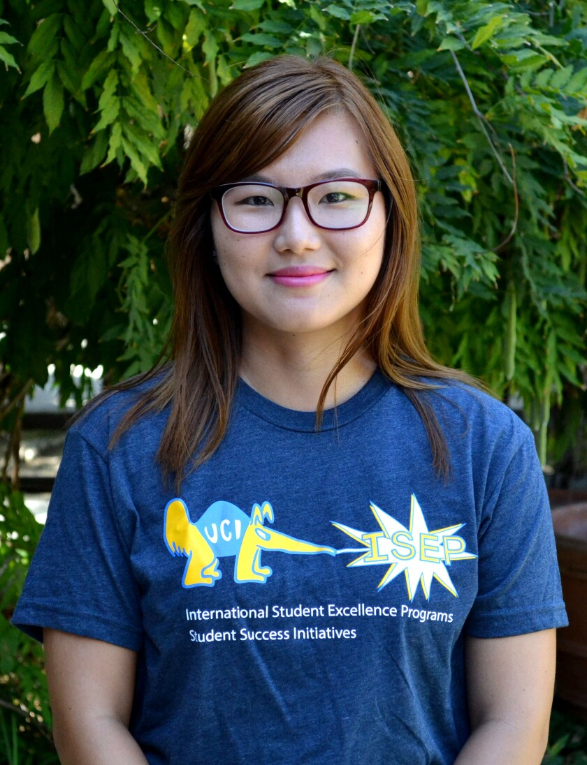 Grace Lee, a UC Irvine student, is one of 12 women to receive an American Assn. of University Women scholarship.