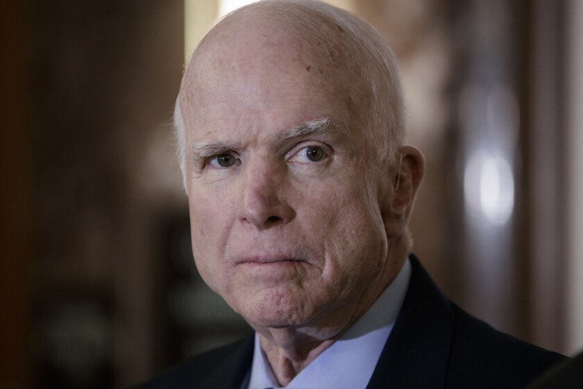 President Trump, who has a long-running feud with John McCain, has yet to offer support to the Vietnam vet during in the Senator's final days.