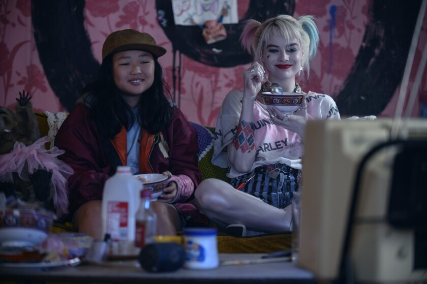 "Ella Jay Basco and Margot Robbie in ""Birds of Prey"""