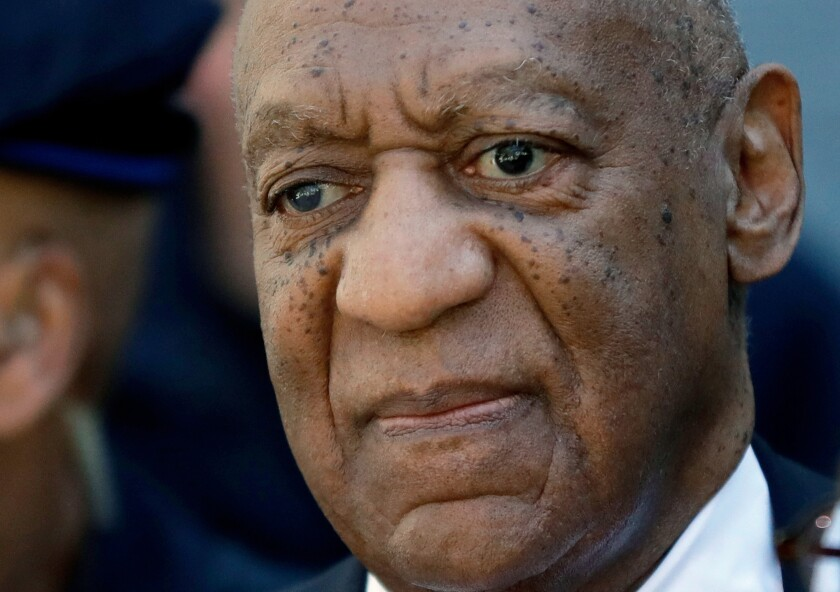 FILE - In this April 26, 2018, file photo, actor and comedian Bill Cosby departs the courthouse after he was found guilty in his sexual assault retrial, at the Montgomery County Courthouse in Norristown, Pa. Lilli Bernard, a prominent Cosby accuser filed suit Thursday, Oct. 14, 2021, against the actor over a 1990 hotel room encounter in Atlantic City, N.J. Bernard's lawsuit comes just before the state's two-year window to file older sexual assault claims expires Thursday. (AP Photo/Matt Slocum, File)