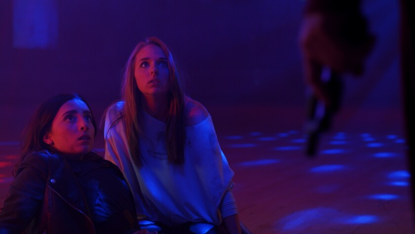 """Shown is a still of YouTube stars Lauren Elizabeth Luthringshausen and Jenn McAllister from their upcoming digital film """"Bad Night."""" The movie, which premiered Tuesday, is one of many films with YouTube stars being released on multiple digital platforms."""
