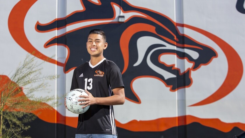 Los Amigos' Alfonso Montano is the Daily Pilot High School Male Athlete of the Week