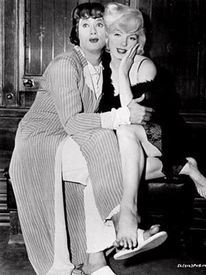 """Pretty-boy actor Tony Curtis became even prettier when starring opposite Marilyn Monroe in """"Some Like It Hot."""""""