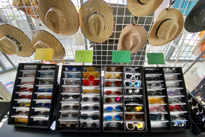 Hats and sunglasses were part of the mix for Fred Segal's flea-market concept.
