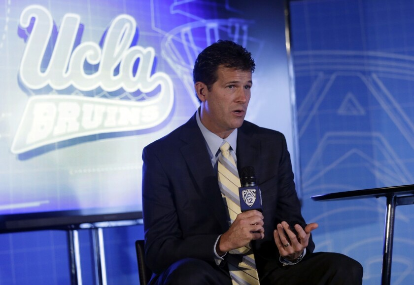 "New UCLA Coach Steve Alford had his share of big moments in his playing career, but says leading the Bruins onto the Pauley Pavilion court for his first game Wednesday ""will be a step above anything I've felt before."""