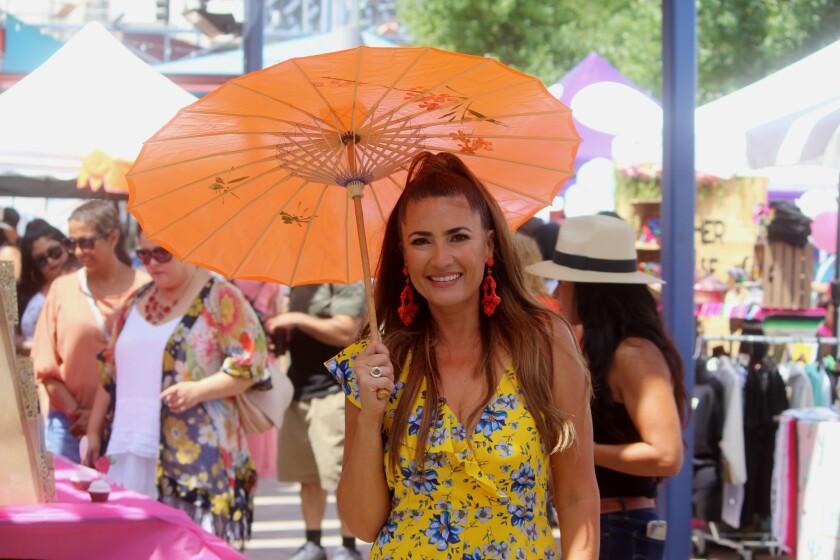 Naibe Reynoso, organizadora y conductora del LATINAFest, que se llevó a cabo en las instalaciones de LA Plaza de Cultura y Artes.