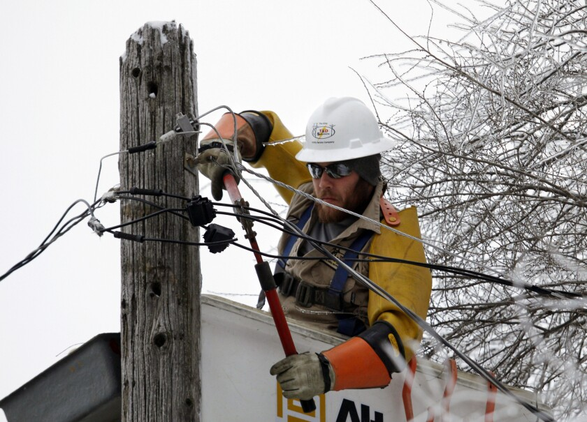 Utility companies working to restore power after ice storms