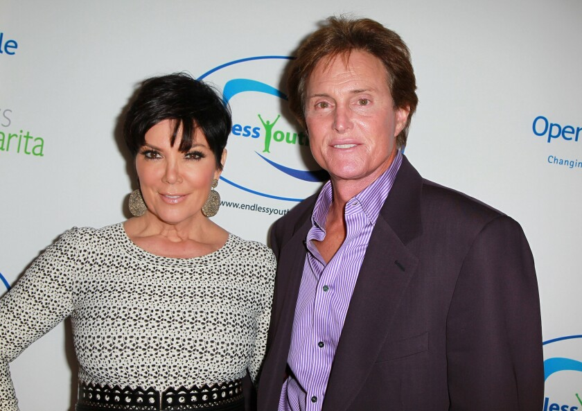 Kris and Bruce Jenner attend the Endless Youth & Life store opening celebration in Beverly Hills on Nov. 11, 2010.