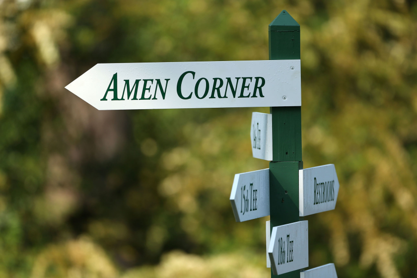 Whispering somewhere beneath the pines of Augusta National's Amen Corner is the author's father.