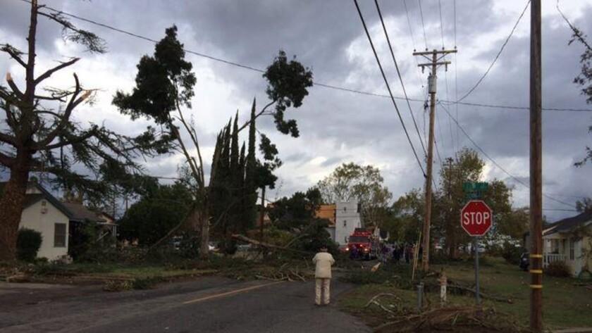 Central California tornado
