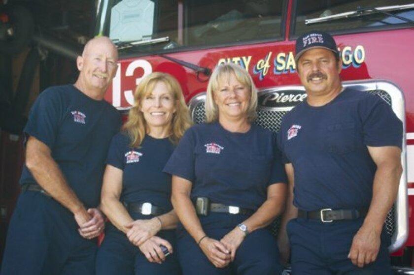 Capt. Bob Bilz with his crew Karen Carnahan, Alisa Hecht and Mark Hanigan