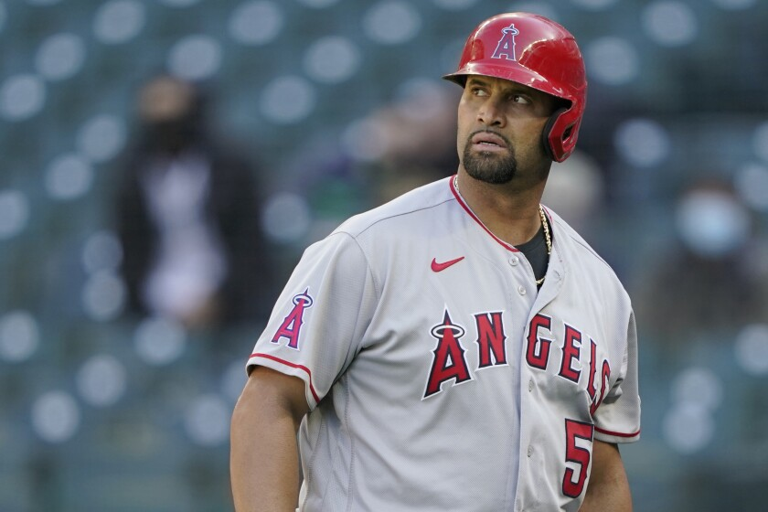 Albert Pujols was released by the Angels on Thursday.