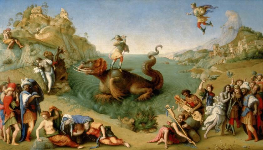 """Piero di Cosimo's """"Liberation of Andromeda,"""" c. 1510-1513, oil on panel"""