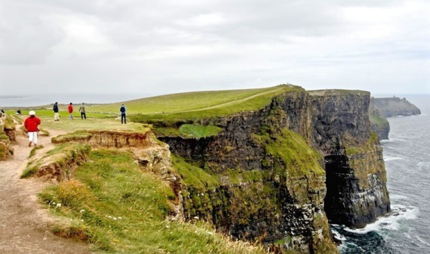 In Ireland, the Cliffs of Moher rise above the Atlantic at the southwestern edge of the Burren area near Doolin. The Emerald Isles, hard hit by the recession, are among the European countries that hope to lure visitors through value pricing and other incentives.