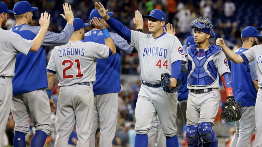 Chicago Cubs first baseman Anthony Rizzo has a .357 career batting average against Dodgers ace Clayton Kershaw.