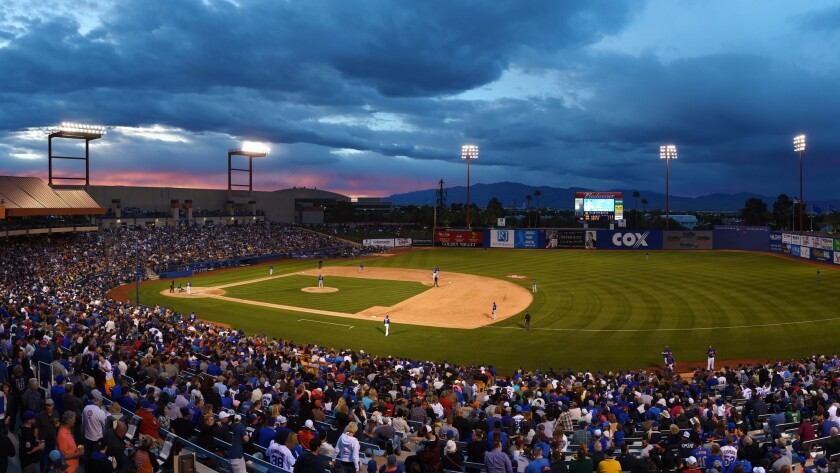 A panoramic photo (created by stitching together five different photos) during the Big League Weekend last year. For about a quarter of a century, Cashman Field has hosted the event.