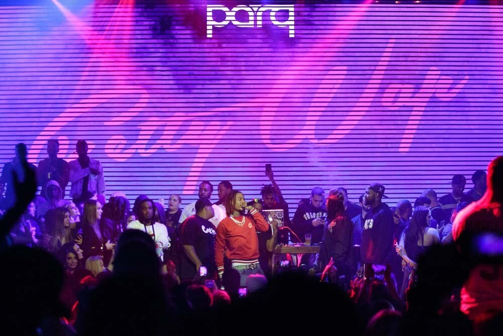 Fetty Wap treated San Diego to an after-party (following his House of Blues show) at Parq nightclub on Saturday, Feb. 3, 2018.