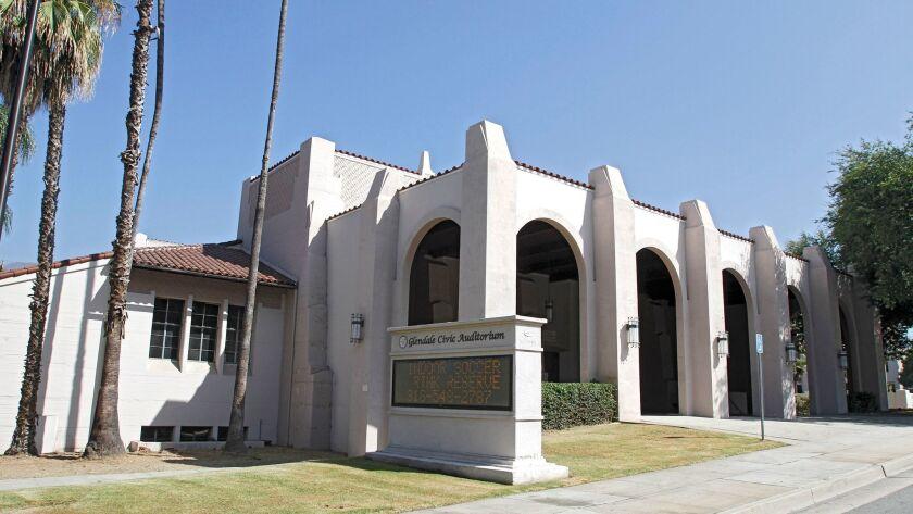 The Glendale Civic Auditorium on Verdugo Rd. in Glendale on Thursday, July 3, 2014. (Raul Roa/Staff