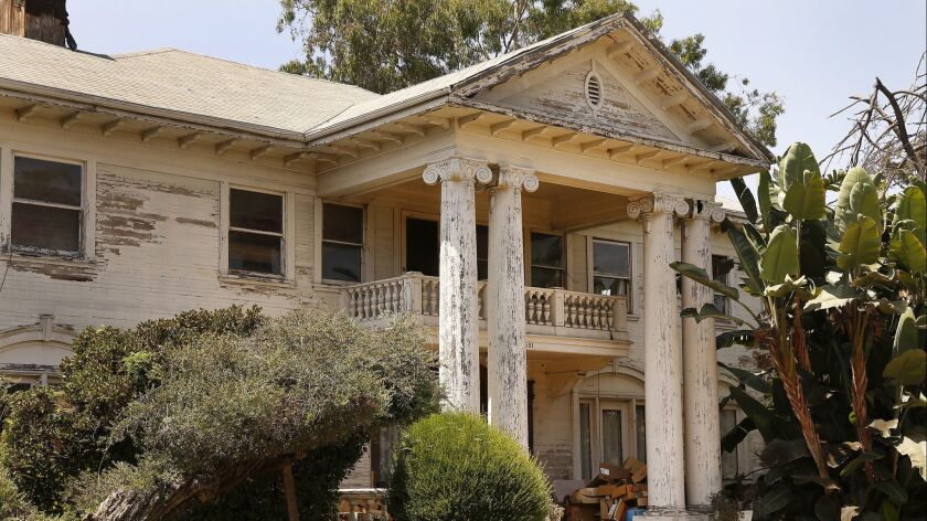 LOS ANGELES, CA – AUGUST 21, 2018: Home located at 2501 S. 9th Street in Los Angeles August 21, 20