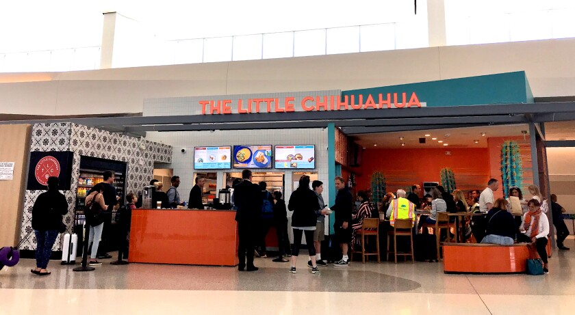 San Francisco International Airport's redone Terminal 1 includes several new food options, including the Little Chihuahua, a taqueria.