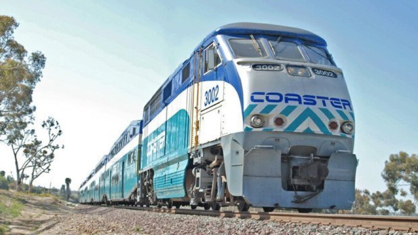 Coaster passenger trains run from Oceanside to downtown San Diego. U-T San Diego file photo.