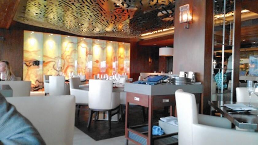 The interior of Ritz Prime Seafood in Newport Beach.