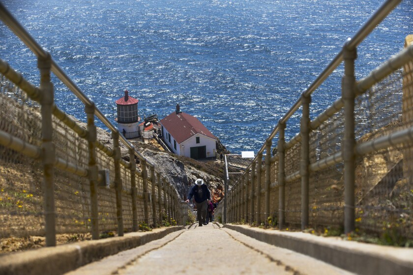 It's 308 steps down and 308 back up to the historic Point Reyes Lighthouse, which began operating in December 1870 and was decommissioned in 1975.