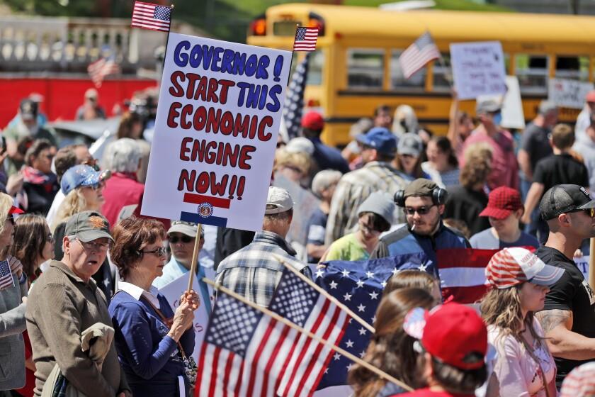 Virus Outbreak Protest Missouri