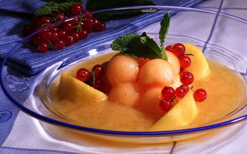 Melon and Peach Soup