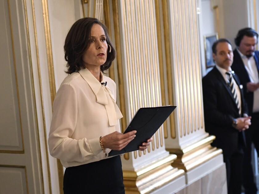 Sweden Obit Nobel Sara Danius