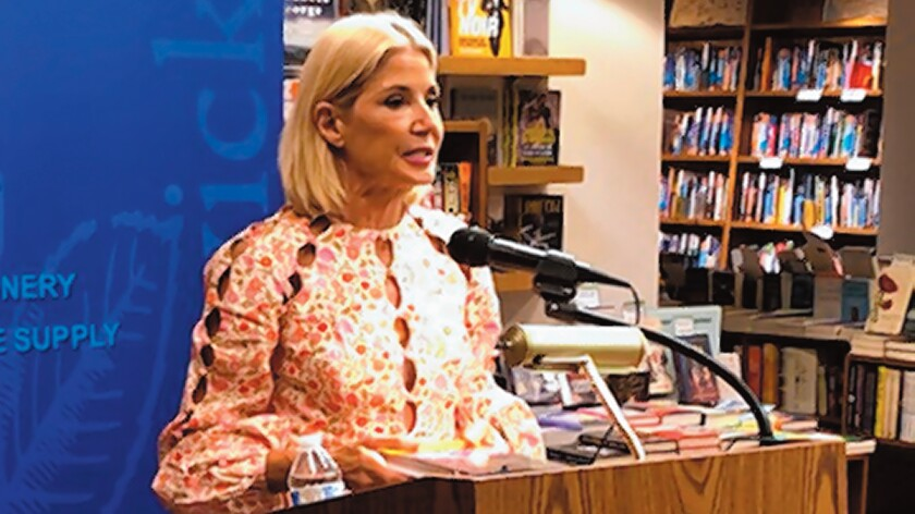 "Candace Bushnell appears at Warwick's in La Jolla, Oct. 4, 2019 for a discussion and signing of her book, ""Is There Still Sex in the City?"""