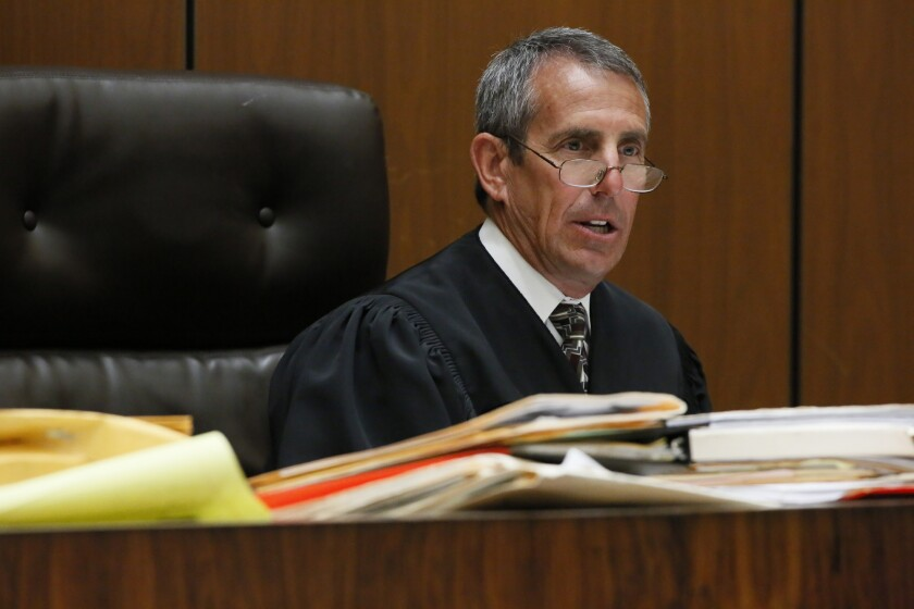 Los Angeles County Superior Court Judge Craig Richman is accused of pushing Connie Romero from behind and knocking her to the ground.