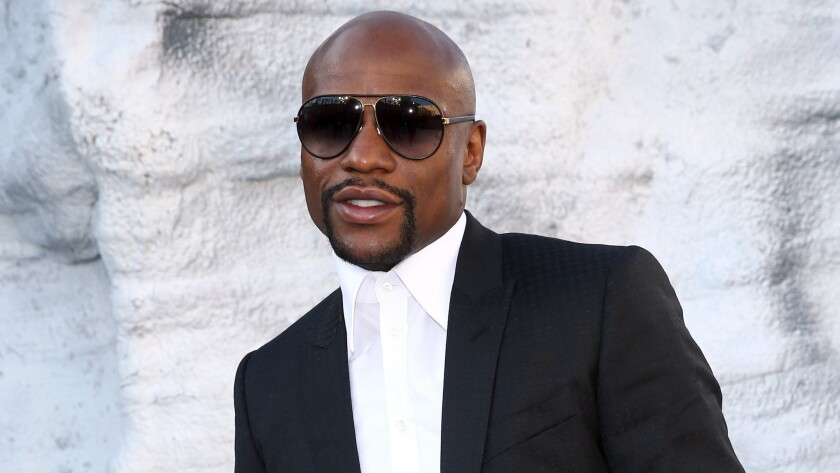 Floyd Mayweather Jr. attends a Spike TV award show at Sony Pictures Studios in Culver City on June 6.