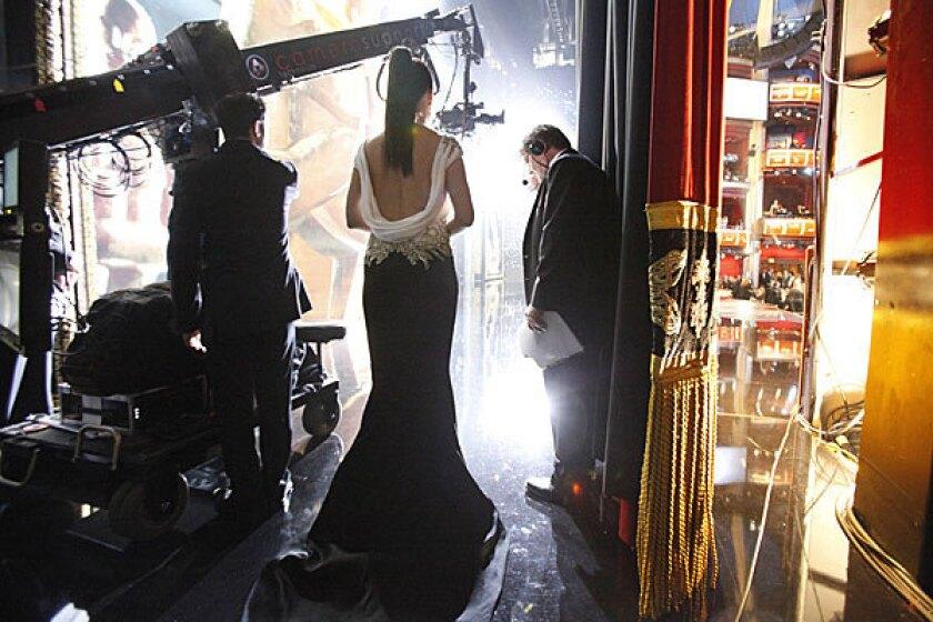 Sandra Bullock backstage