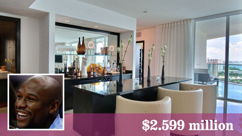 Boxer Floyd Mayweather Jr. is asking $2.599 million for his Miami-area penthouse.