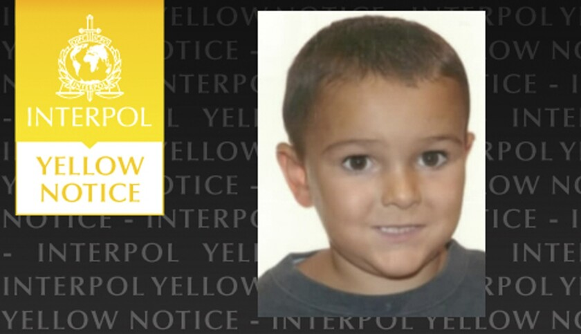 Interpol issued this notice Aug. 29 in the search for Ashya King, 5, who has brain cancer. His parents took him from the British hospital where he was being treated and were arrested in Spain.